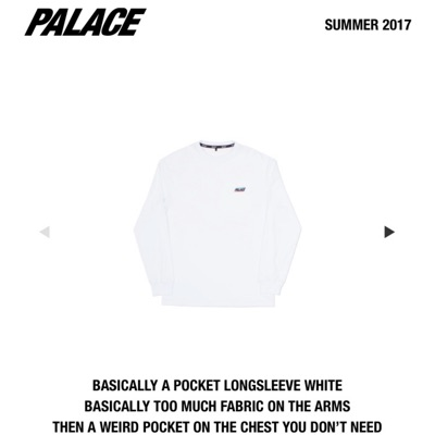 Palace Basically A Pocket Longsleeve White