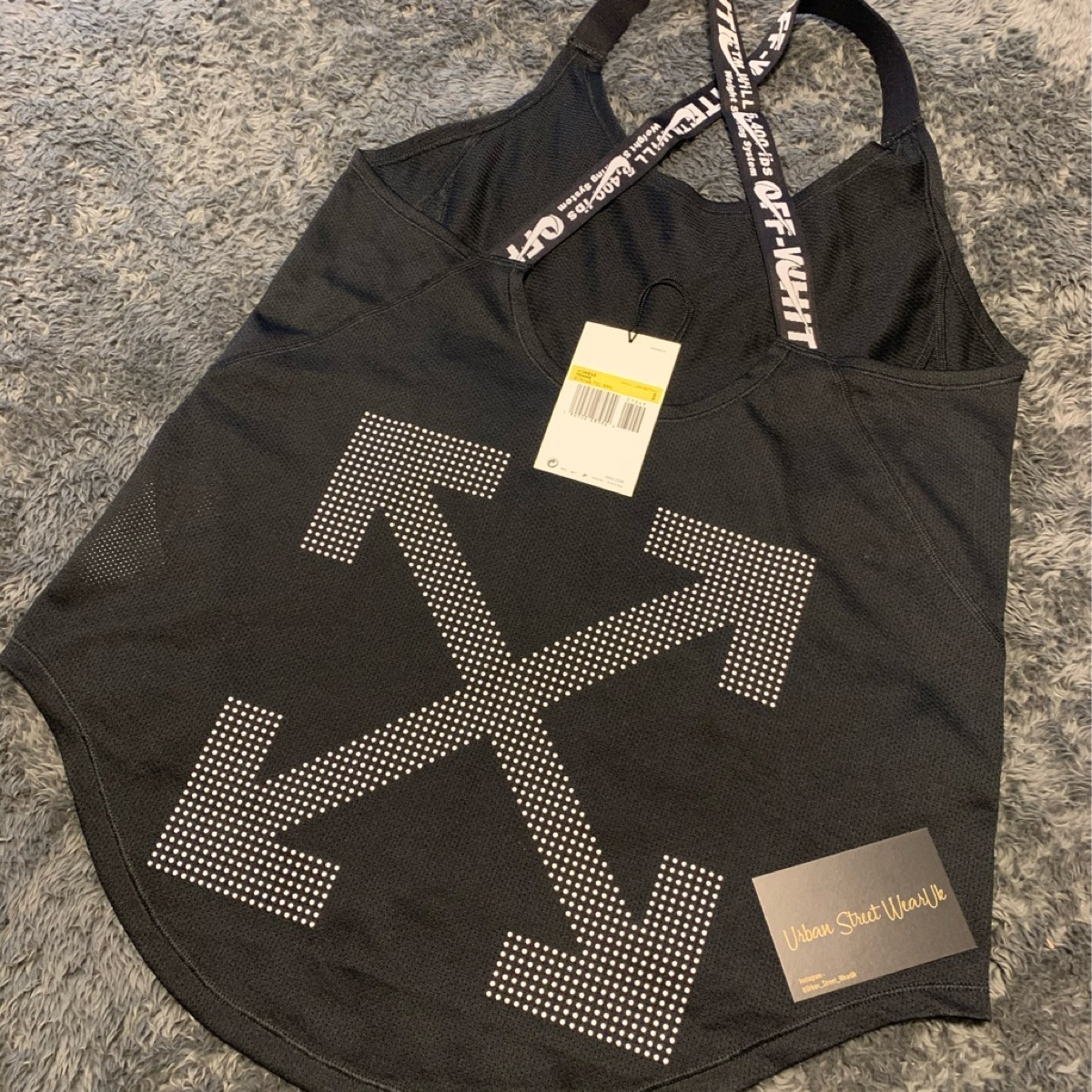 Nike x off white womans vest top black