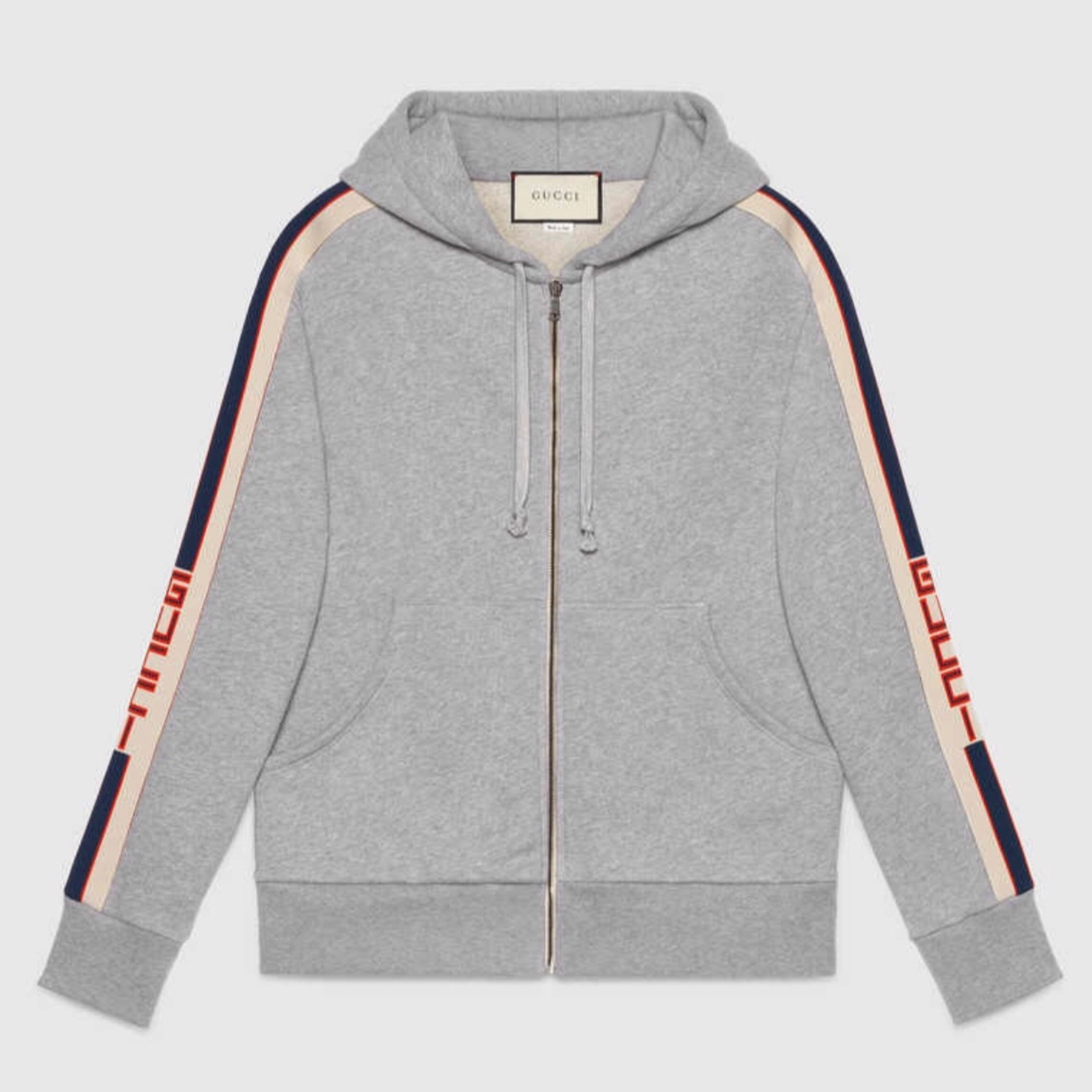 491bb2bbdef Gucci Zip Hoodie With Gucci Stripe