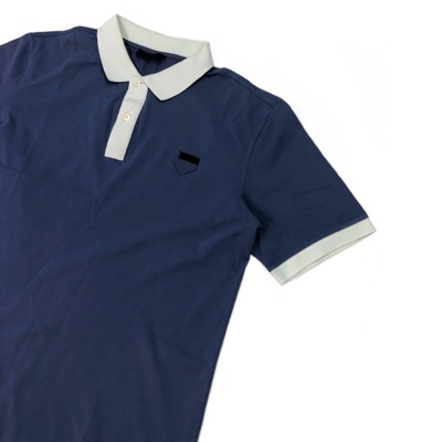 Prada Blue And White Polo