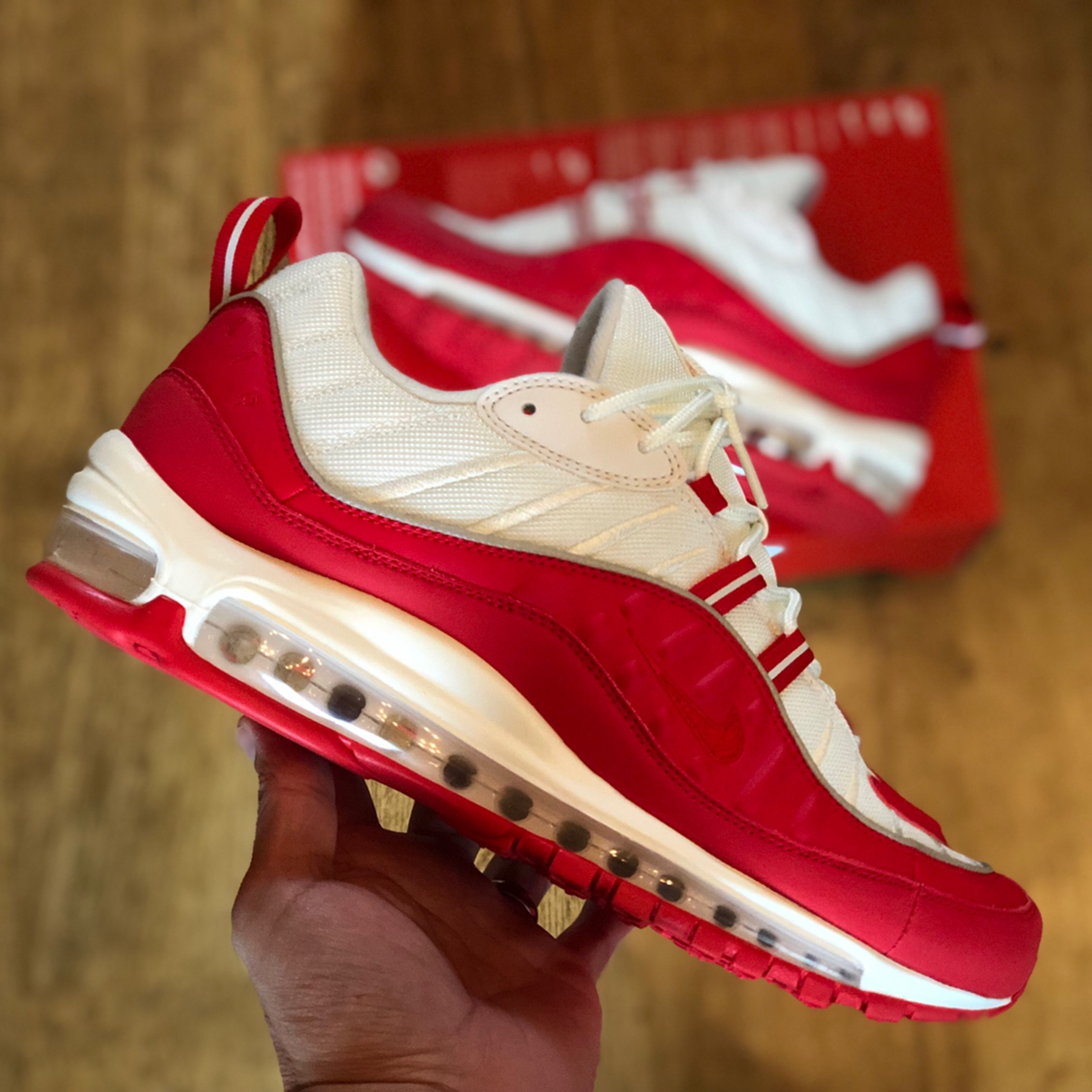 hot sale online 9d47d 81cf3 Nike Air Max 98 Red White Uk 7.5 Eur 42 Us8.5 New