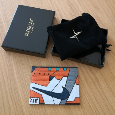 Custom Nike Painted Leather Card Holder