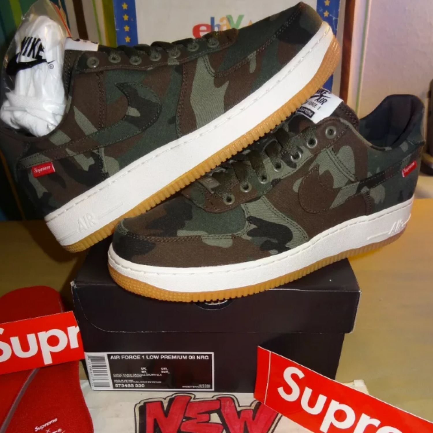 nike air force 1 supreme camo for sale