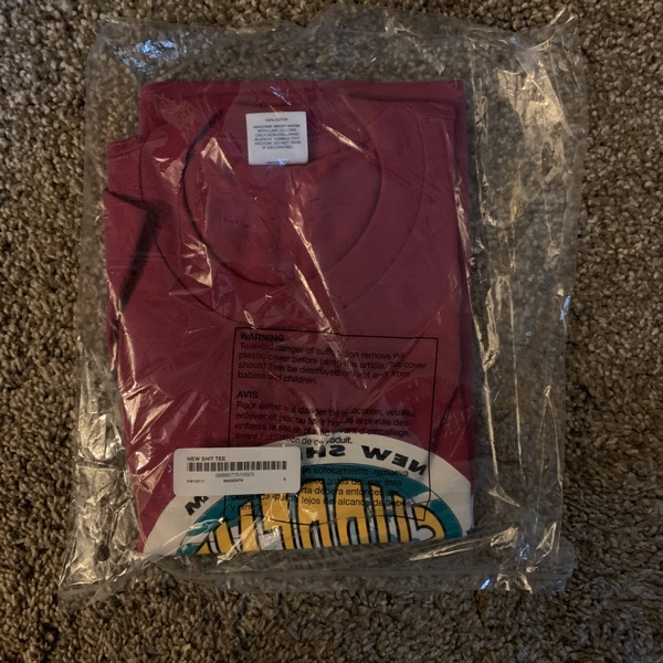 Supreme New Shit Tee Small Magenta Fw19 Ds