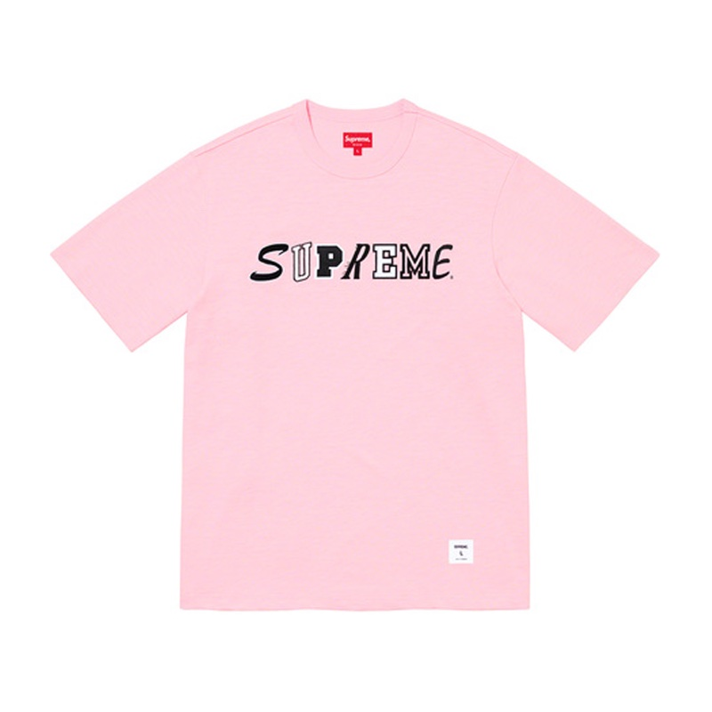 Supreme Collage Logo S/S Top Pink