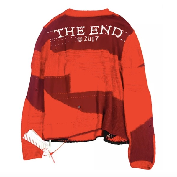 Off White Red Knitwear Small New