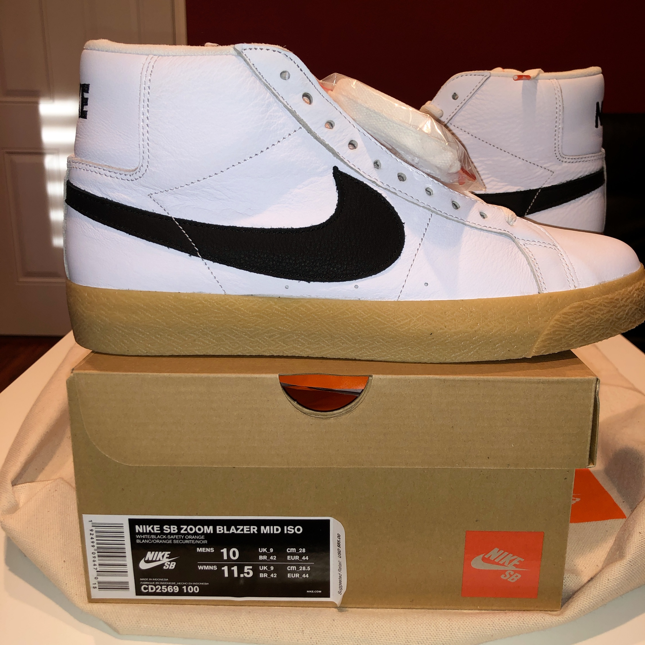 clearance prices latest discount 100% top quality Nike Blazer Mid Orange Label