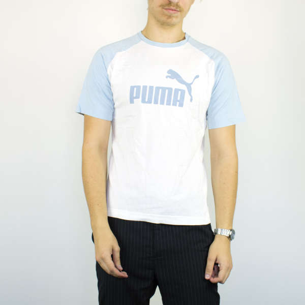 Vintage Puma t-shirt top blouse tee in white