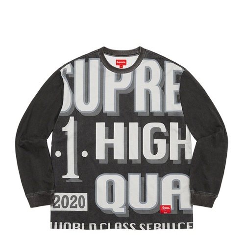 Supreme World Class LS Top Black