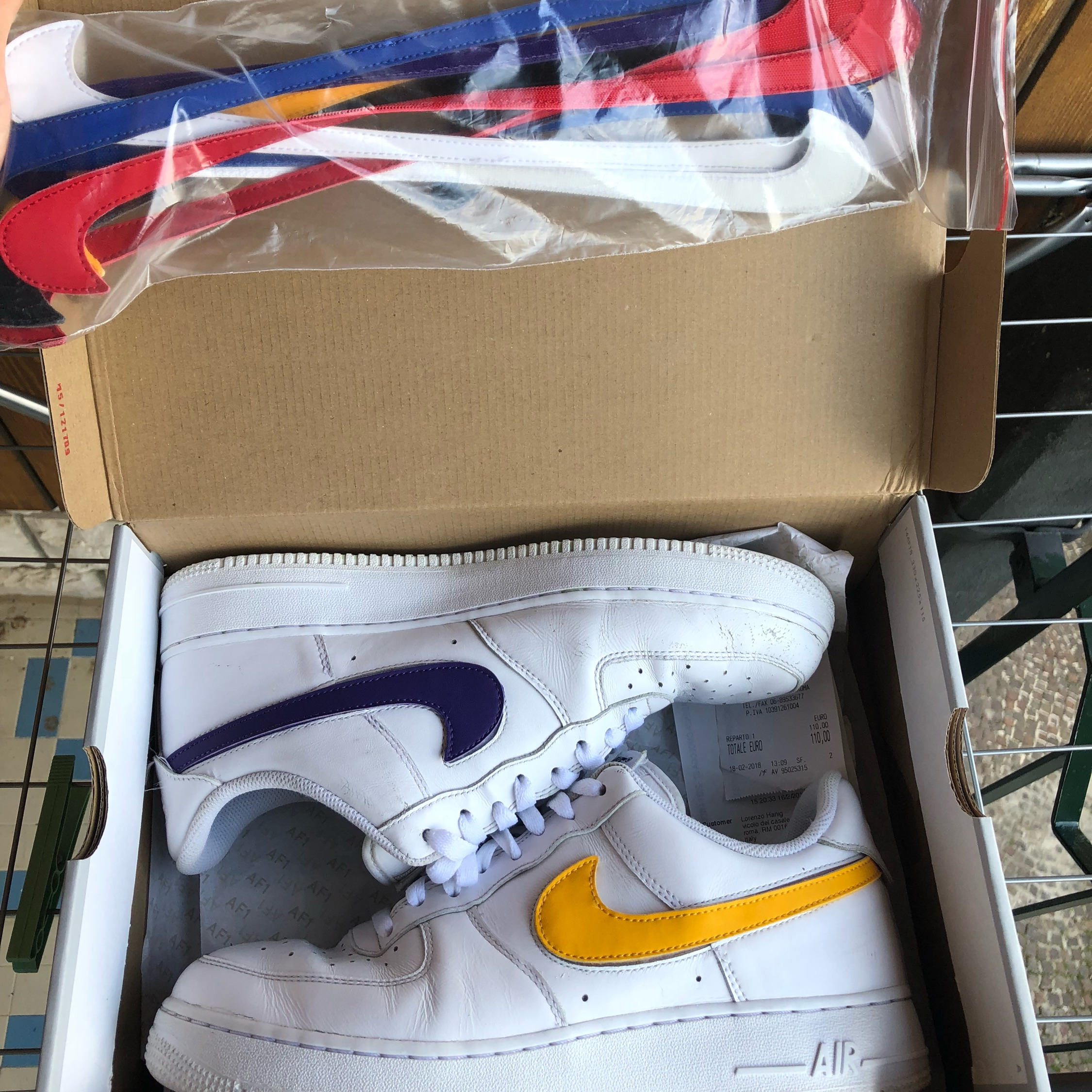 new arrival 10374 957a5 Nike Air Force 1 (One Low) Swoosh Pack 10Us