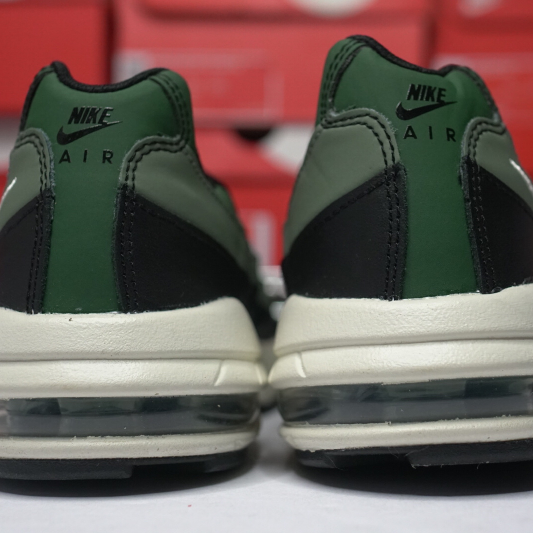 low priced 291b7 7998f Nike Air Max 95 Gs Olive Green Grade School
