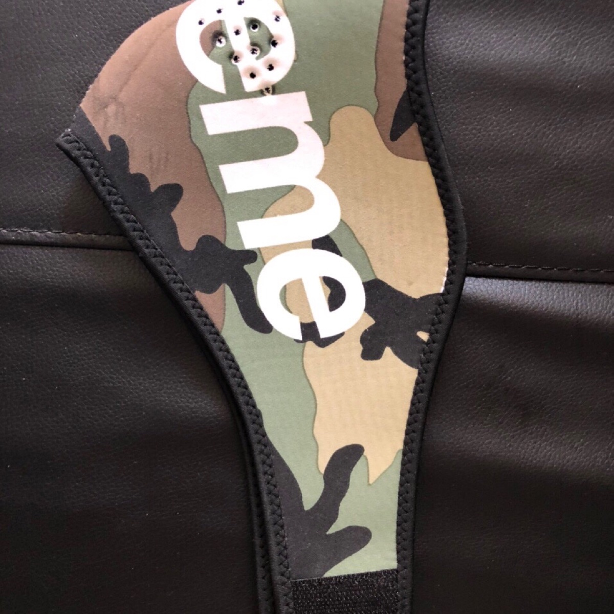 Supreme neoprene face mask Woodland Camo
