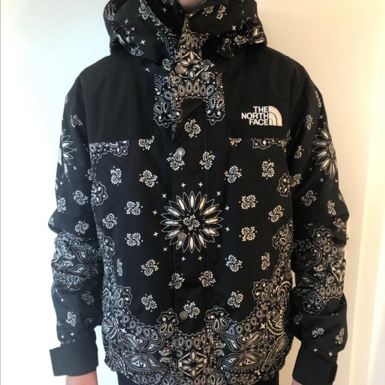 Replica Supreme X TNF Bandana Mountain Parka Size M