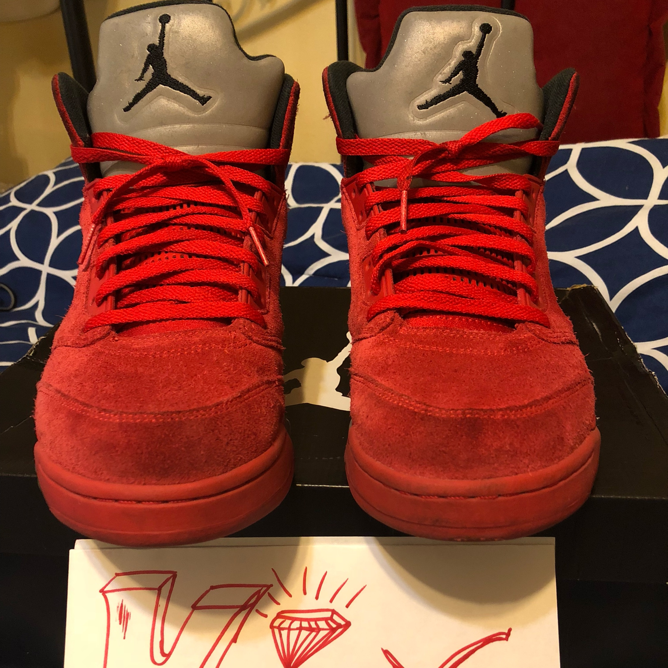 new style 85fcc b2d51 (2017) Raging Bull 5S/ Red Suede