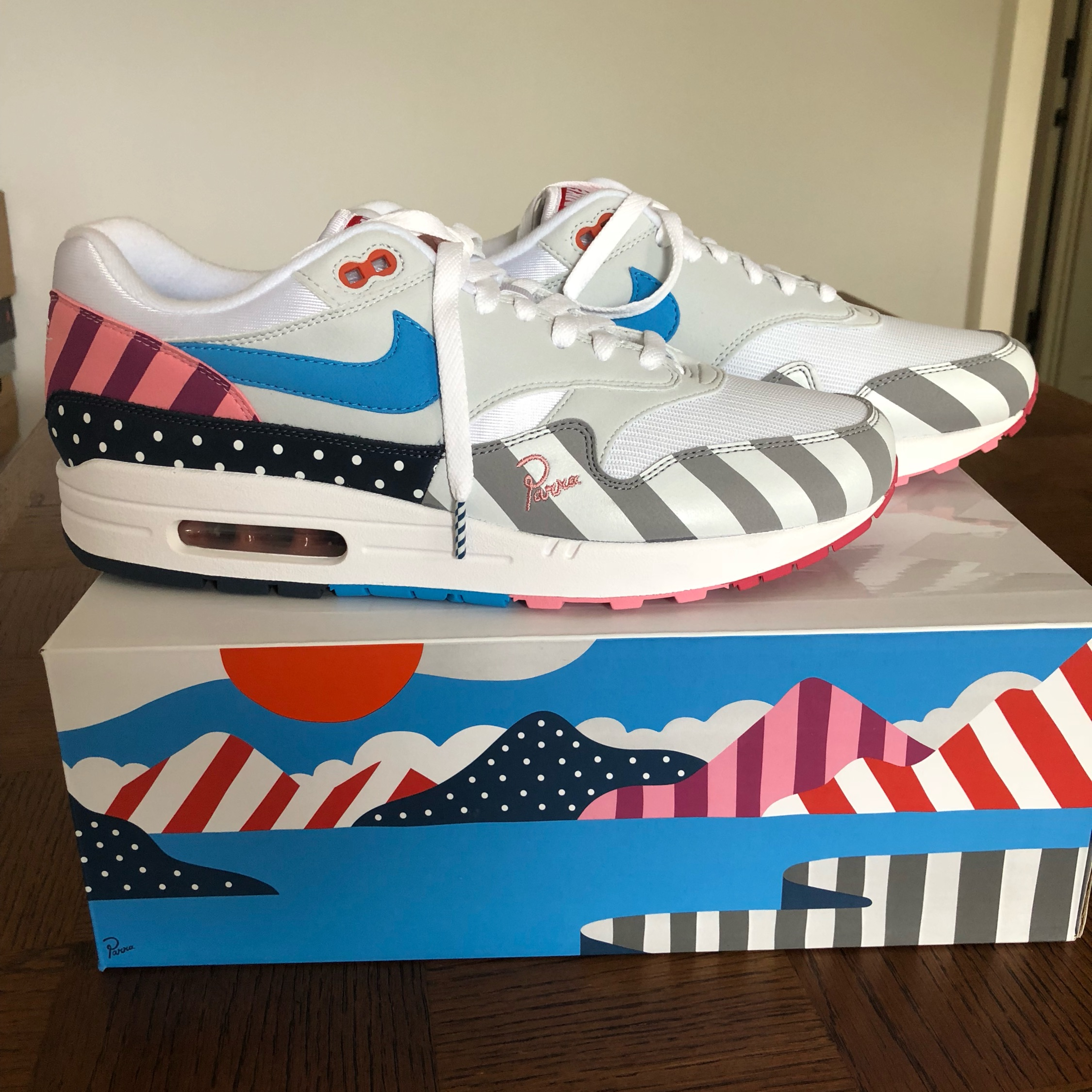 classic fit 061e7 f2ac6 Nike Air Max 1 Parra Deadstock Uk 10