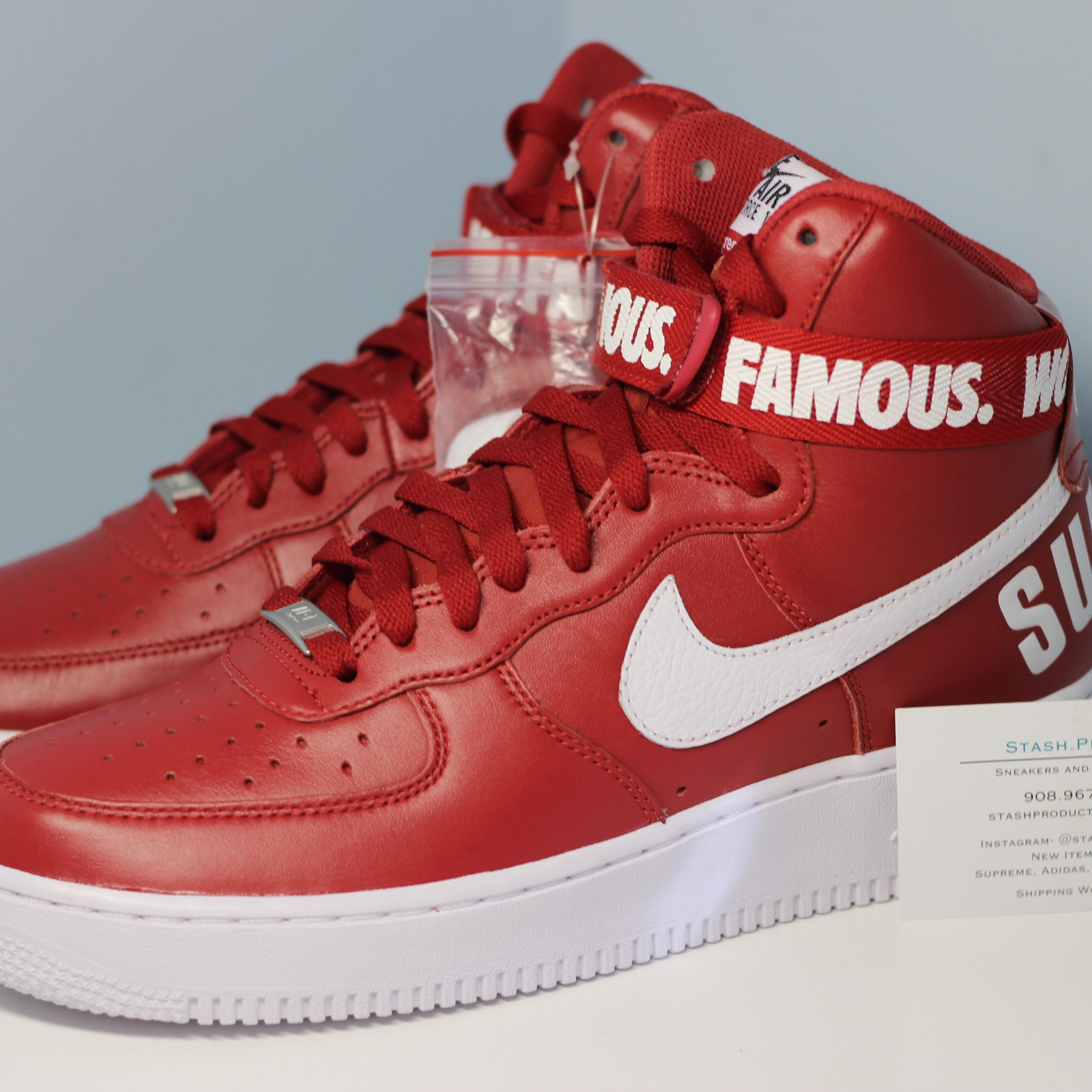 pretty nice bbb52 cd661 Nike Air Force 1 High Supreme Sp World Famous Red