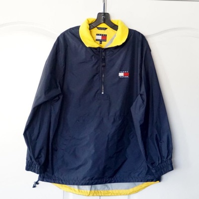 Vintage Tommy Hilfiger Blue Yellow Pullover Jacket