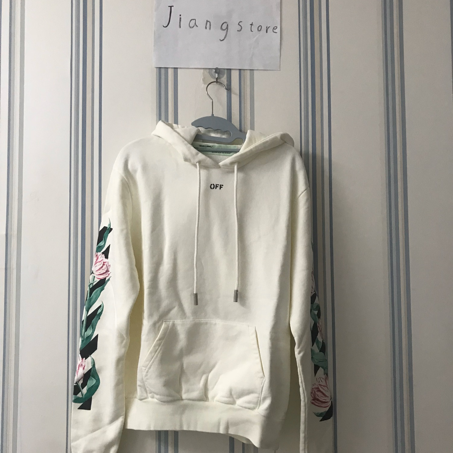 Off White Brand New Flower White Hoodie