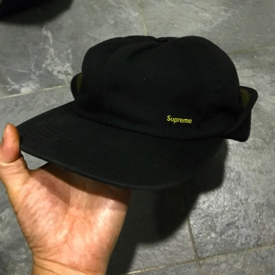 Supreme Waxed Ear Flap Cap