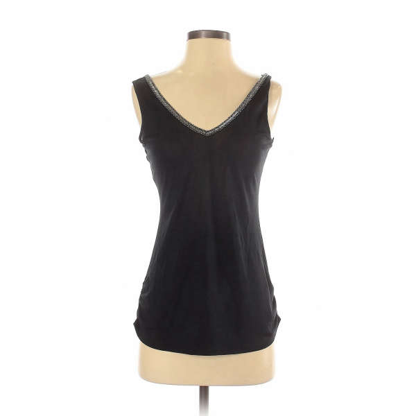 Marciano Women Black Sleeveless Silk Top S