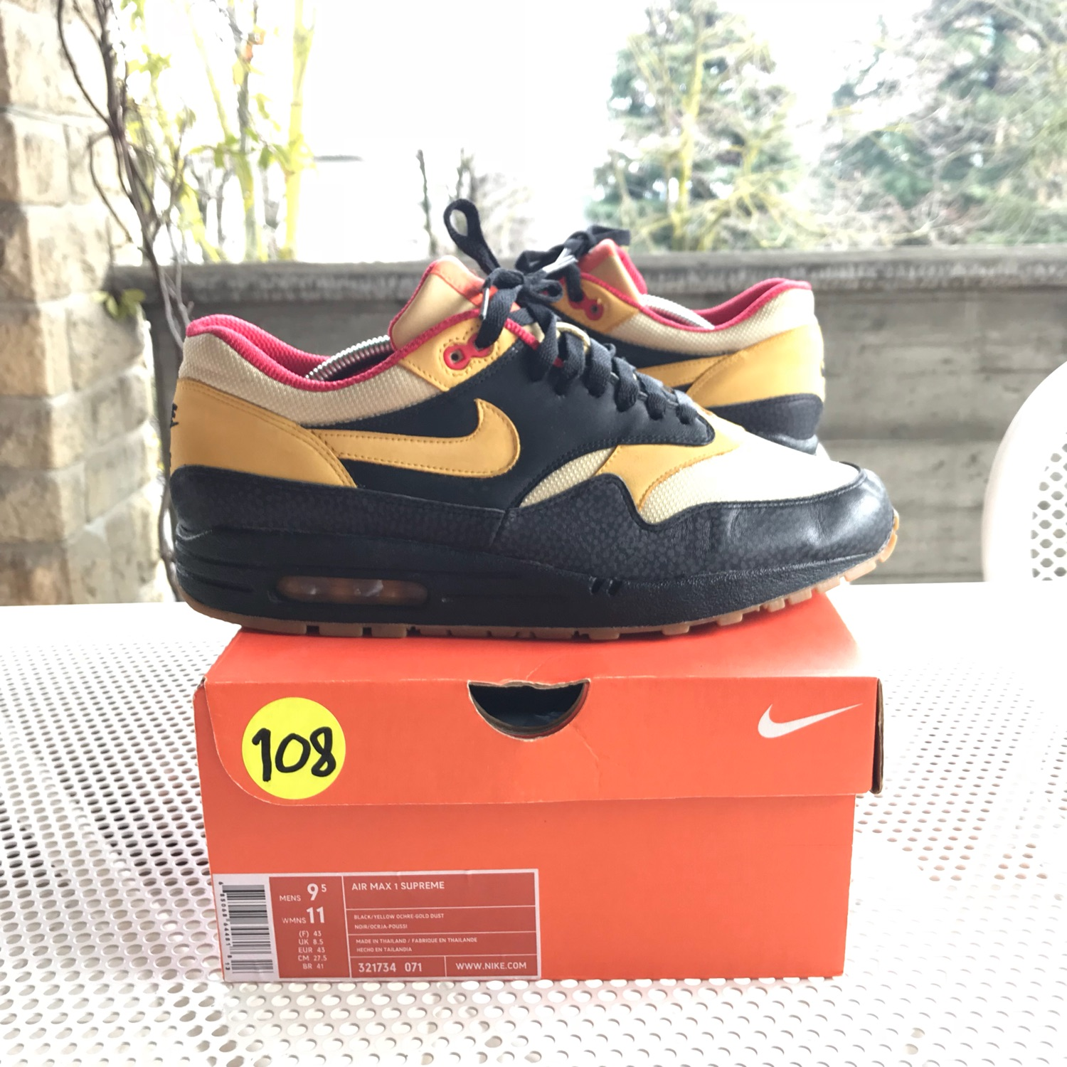 finest selection 26f7b 25ccb Nike Air Max 1 Supreme Tech Pack Safari Spider