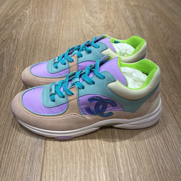 Chanel - Low Top Trainers Pastel Colourway