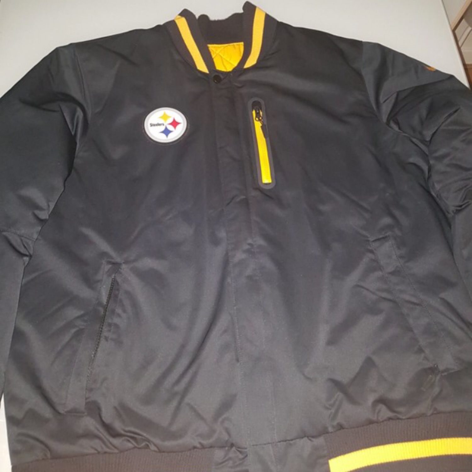 new styles a8f4a 4ab9c Bomber Nike Steelers Reversible