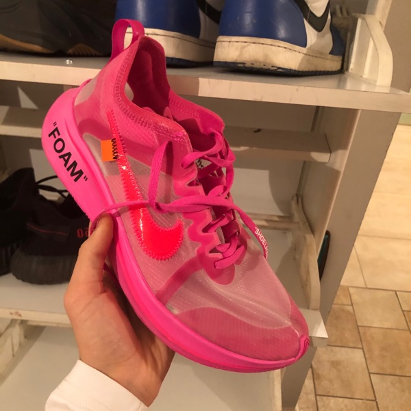 Nike Zoom Fly Off-White Pink 9/10