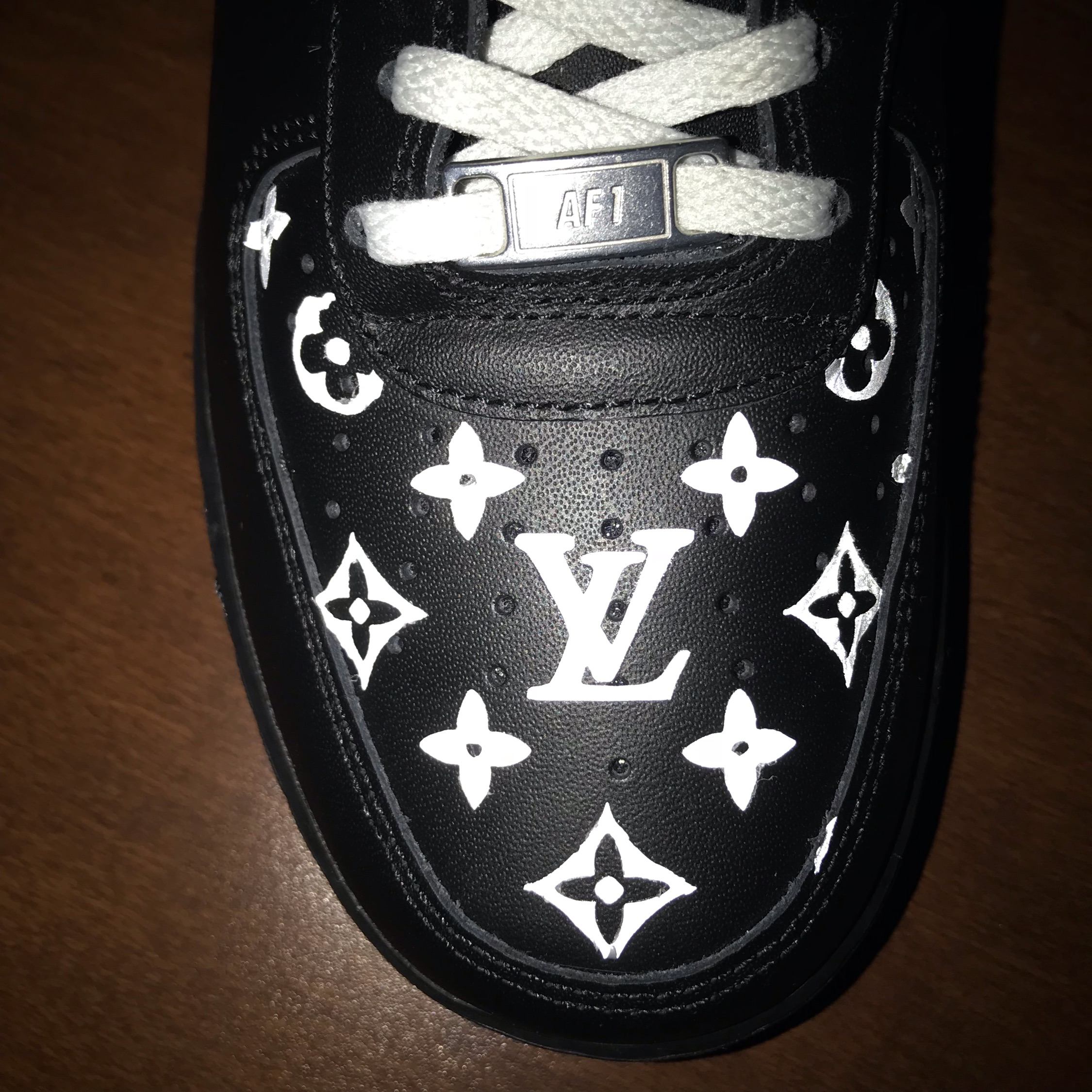 custom lv air force 1 reflective