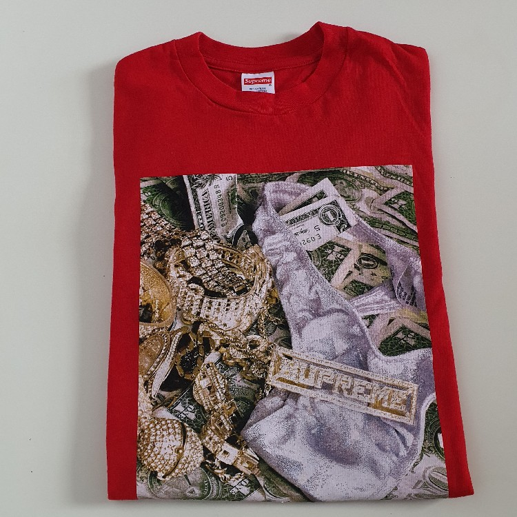 SS20 Supreme Red Bling Tee Size S Small