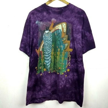 Vintage tie dye the mountain tshirt