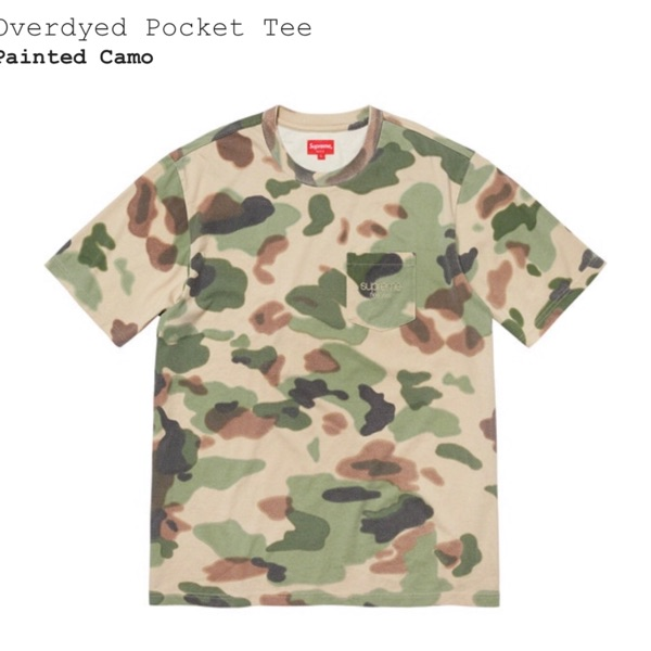 Supreme Overdyed Pocket Tee Painted Camo (Ss20)
