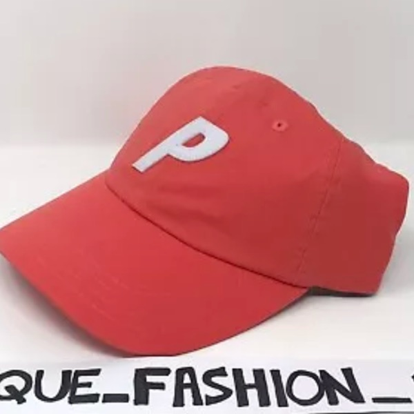 Palace 6 Panel Red Camp Cap New Pink