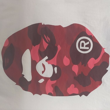 BAPE Color Camo Big Ape Head T-Shirt (SS20) White/Red