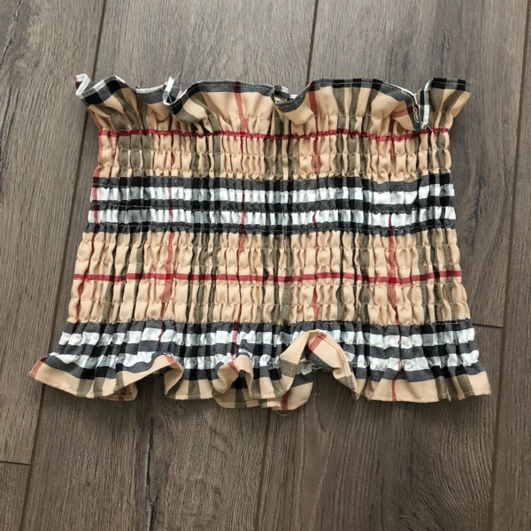 Burberry Reworked Tube Top