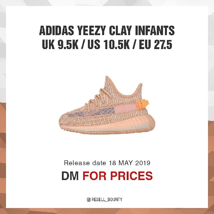 Adidas Yeezy Boost 350 V2 Clay Infants Toddler UK 9.5