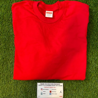 Supreme Blank L/S Tee Red Size Small