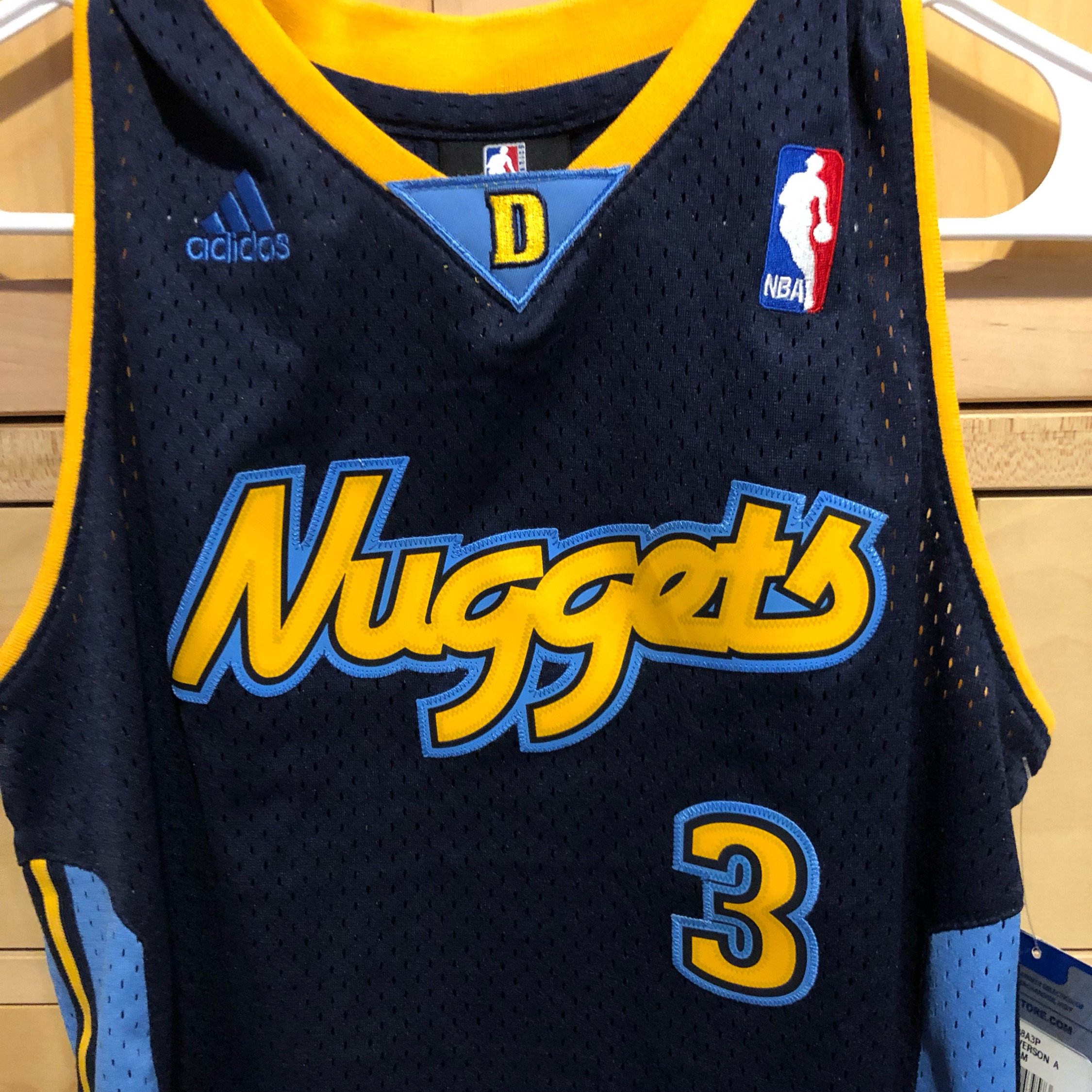 huge selection of 1c15a d7840 Adidas Denver Nuggets Allen Iverson Jersey Youth