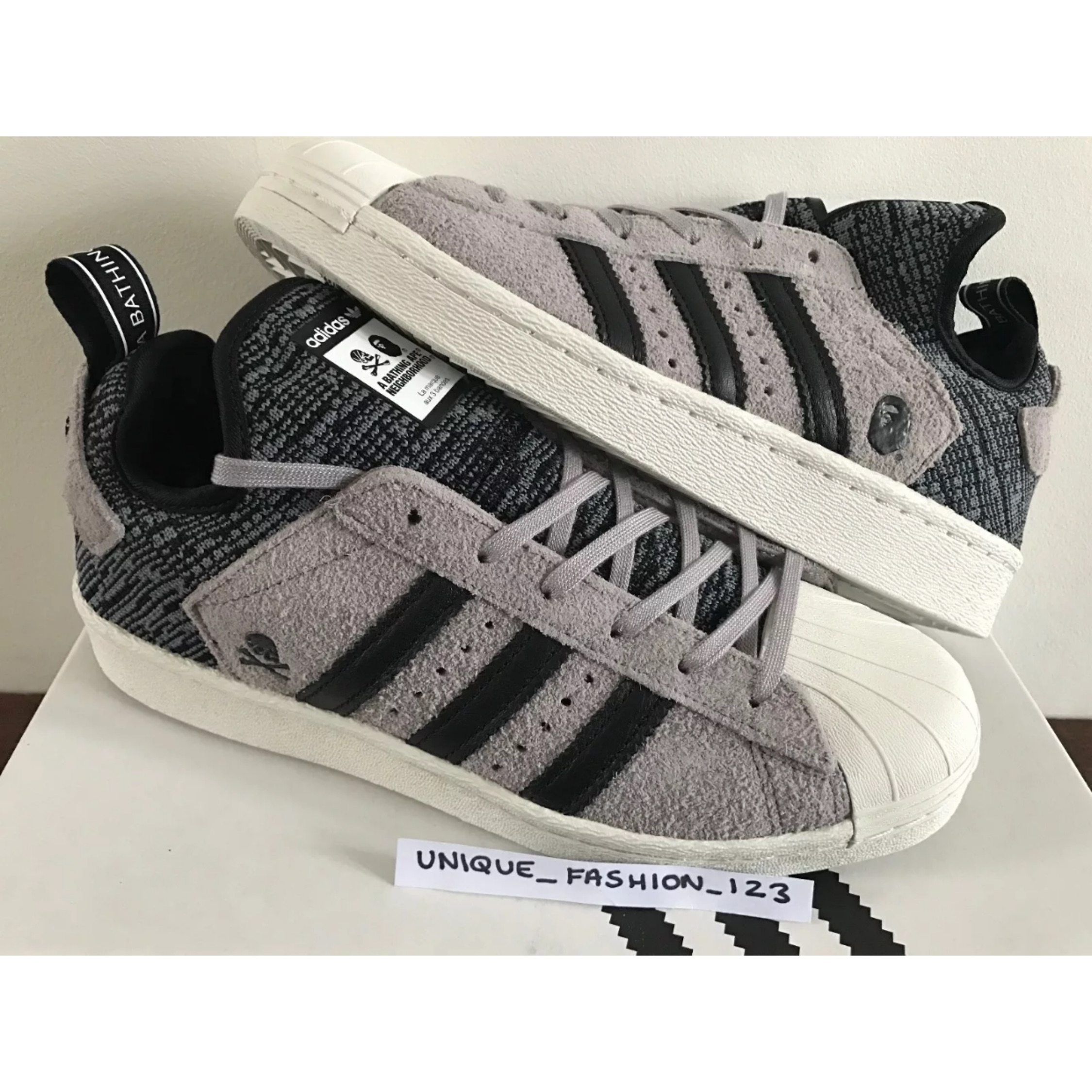 e39df3b141e6 Adidas Superstar Boost Bathing Ape Neighbourhood