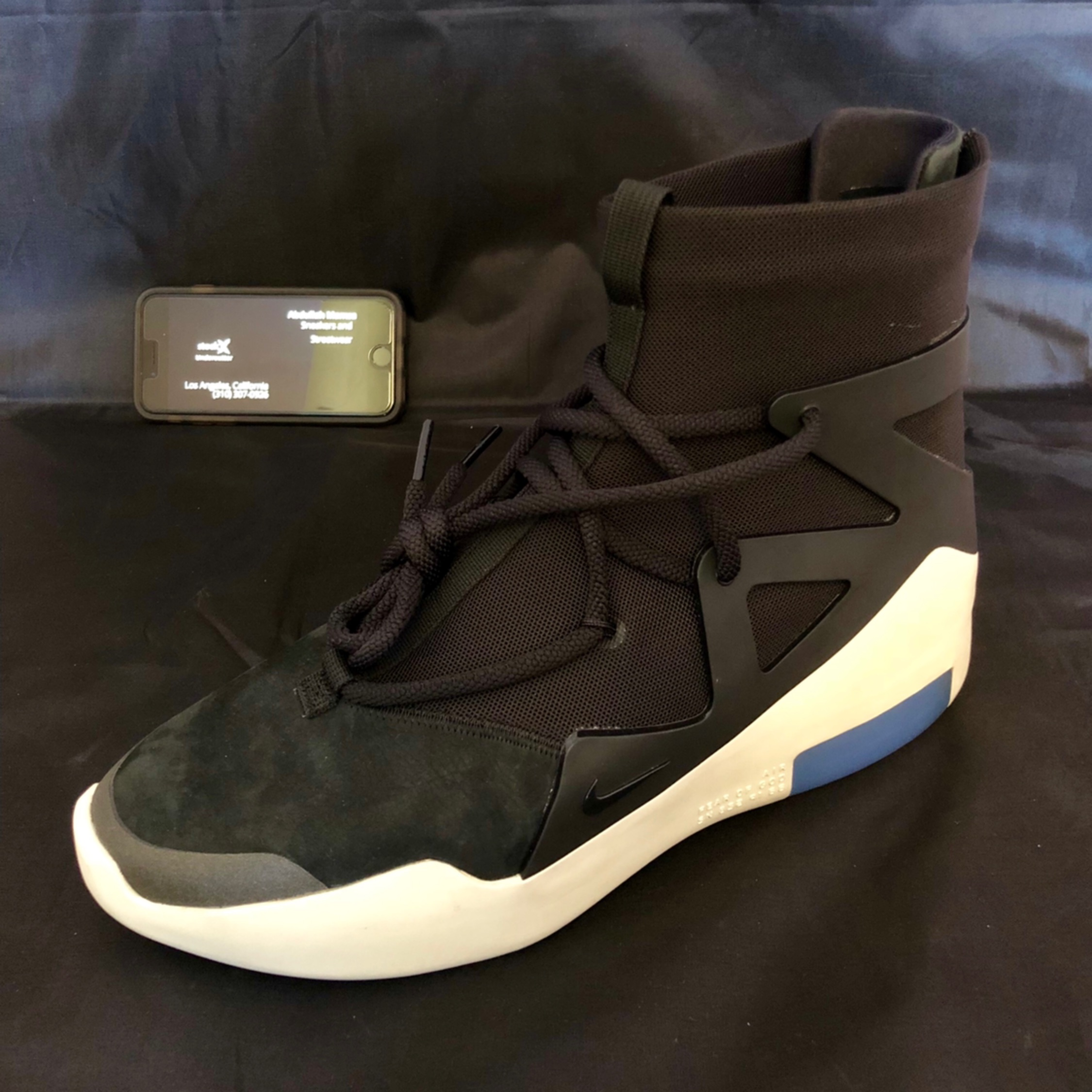 Nike Air Fear Of God 1 Black Size 10 Ds