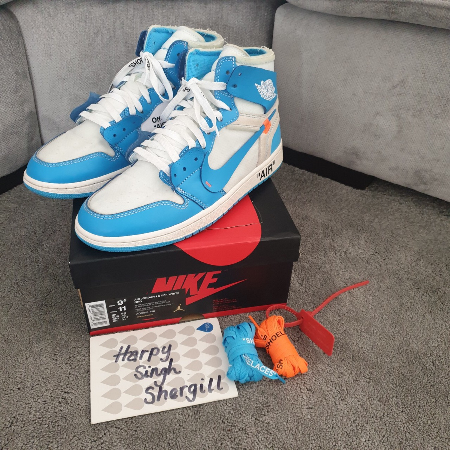 sale retailer 1d45d 0411d Nike Air Jordan 1 Unc X Off White
