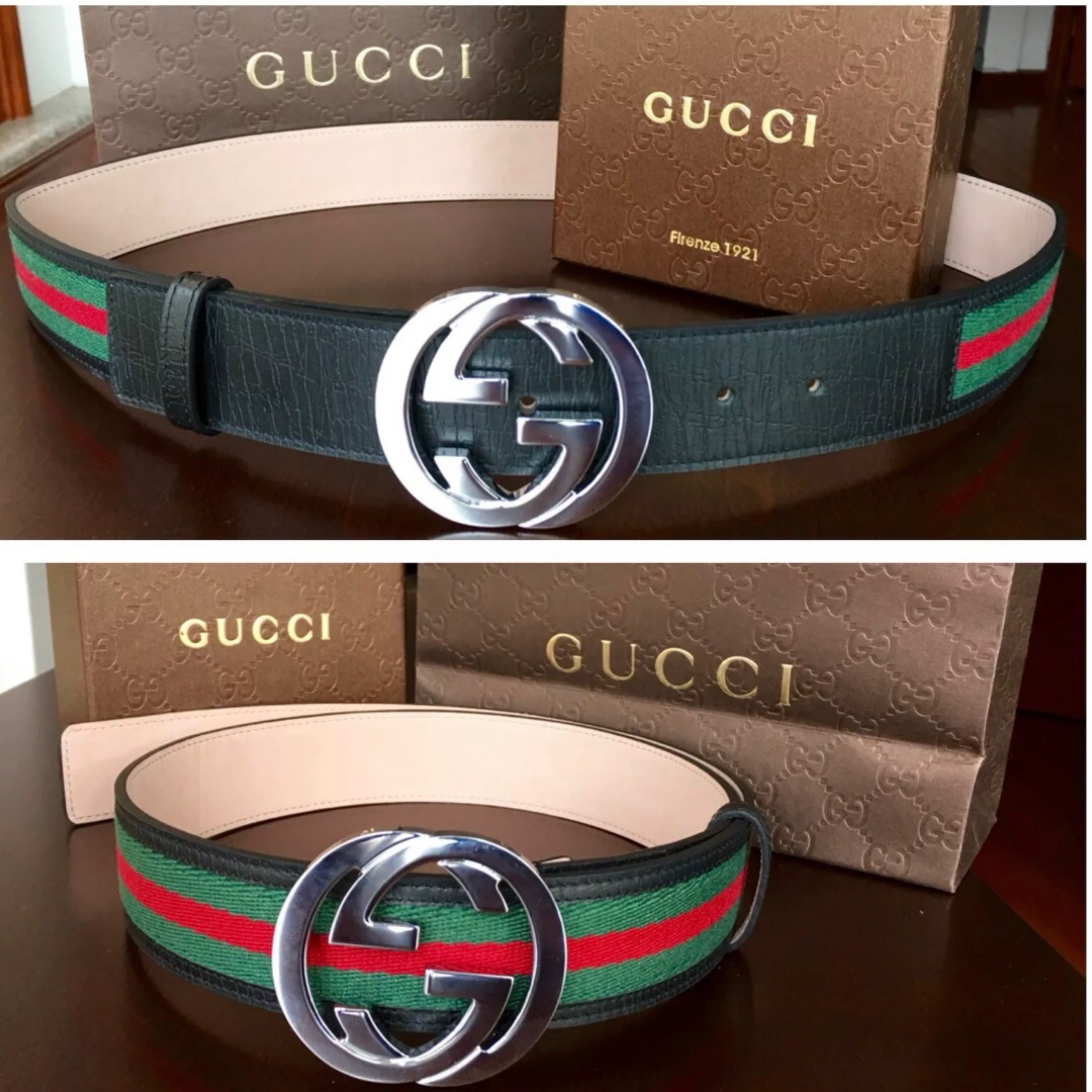 46fded781 Gucci Belt Authentic Fits 30-34
