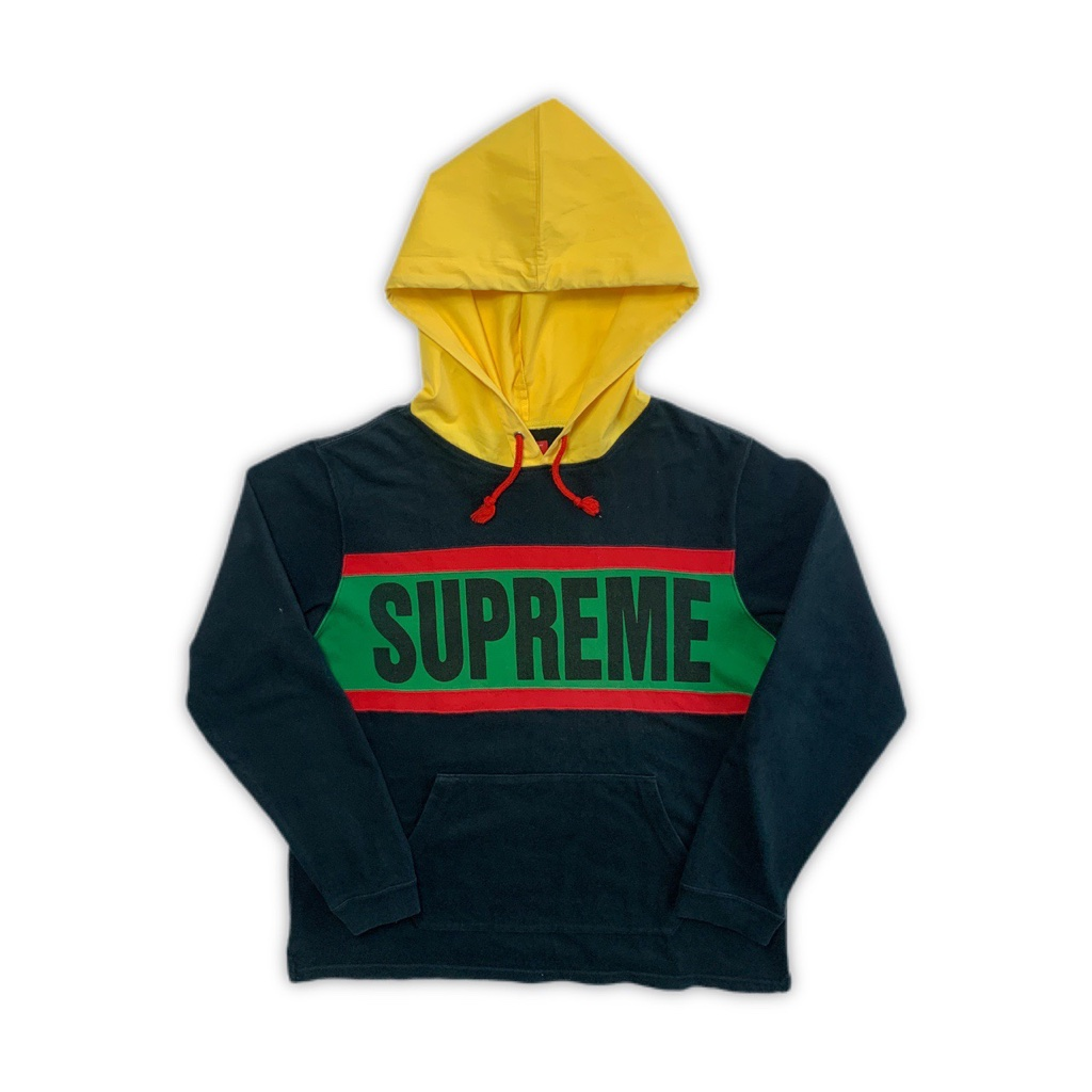 SS07 Supreme Rugby Hooded Long Sleeve Top