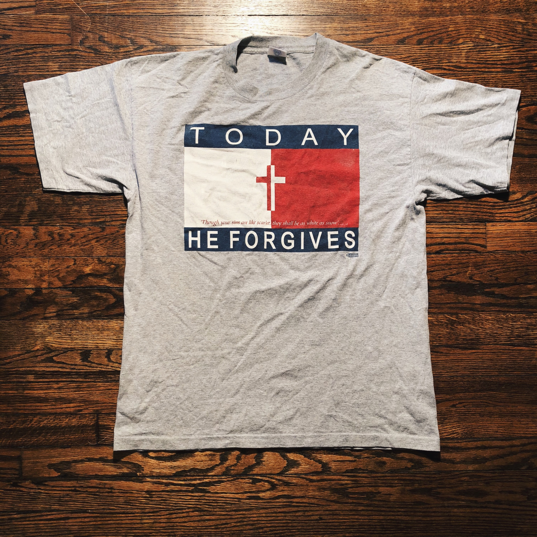 Vintage 90'S Today He Forgives Tommy Hilfiger Tee