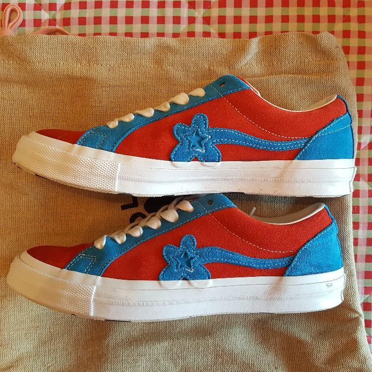 ed244bb287d8 Golf Le Fleur Converse Red And Blue Spiderman 8.5 UK