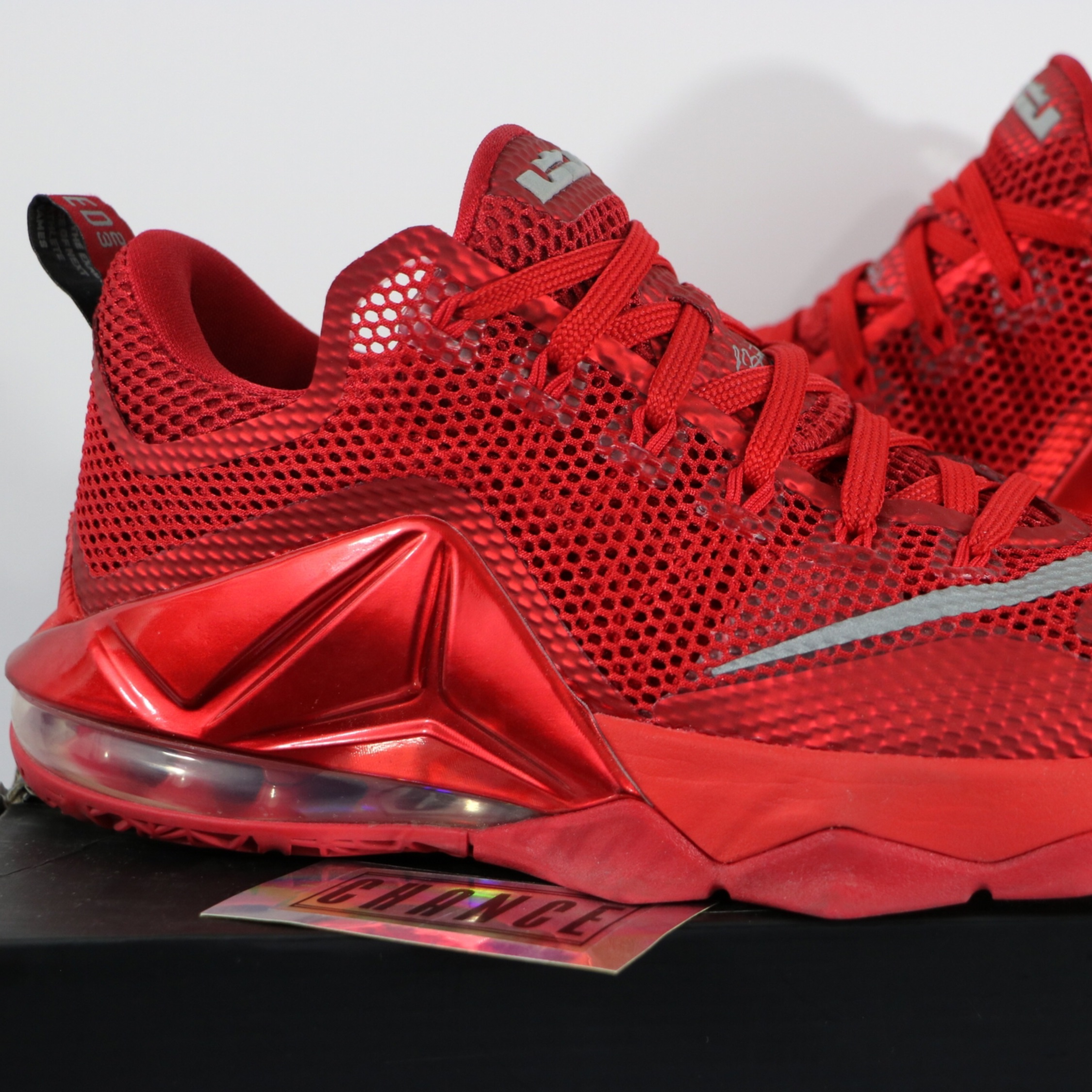 watch 30fd4 7828a Nike Lebron 12 Low University Red 2015