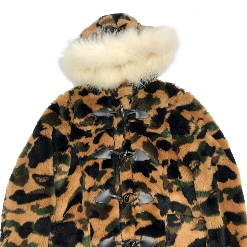 Bape Camo Fur Coat