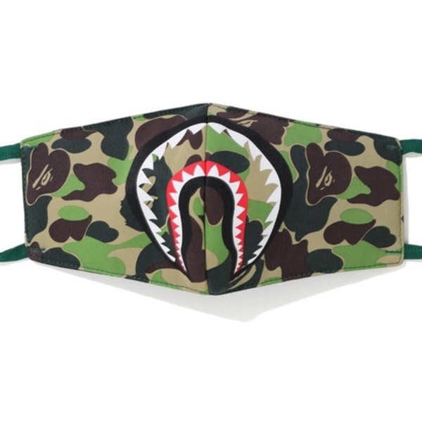 Bape Abc Camo Shark Mask Green