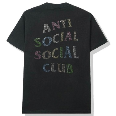 anti social social club nt black tee