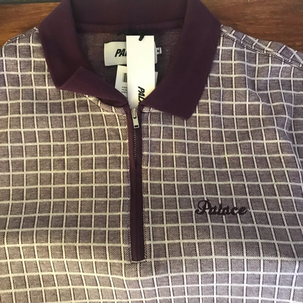 Palace Zip Top Checker Plum